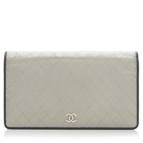 Chanel Metallic Leather Yen Wallet