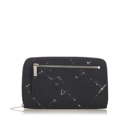 Chanel Old Travel Line Zip Around Wallet