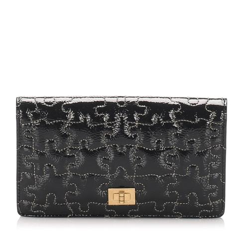 Chanel Patent Leather Puzzle 2.55 Long Wallet