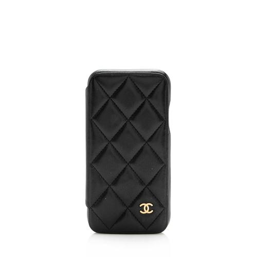 Chanel Quilted Lambskin iPhone X Case