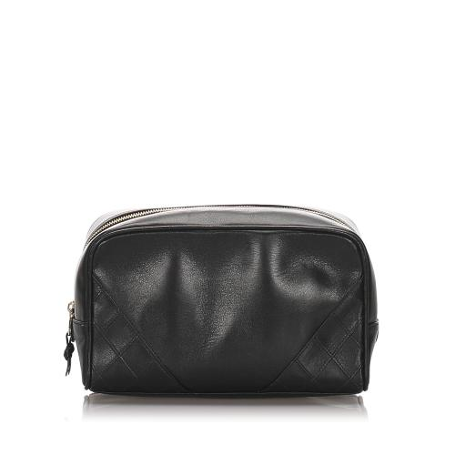 Chanel Quilted Lambskin Leather Cosmetic Bag