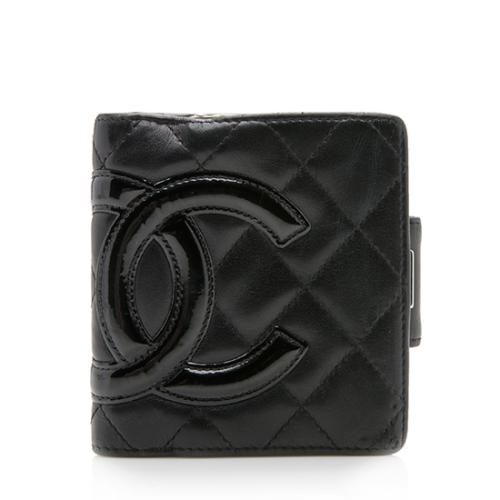 Chanel Quilted Lambskin Ligne Cambon French Purse Wallet