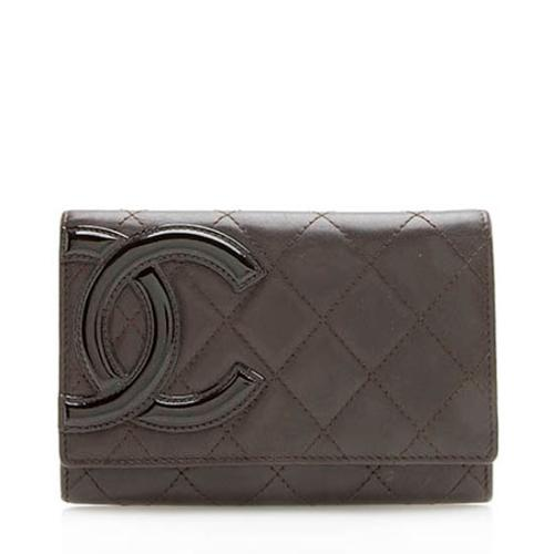 Chanel Quilted Lambskin Ligne Cambon Wallet