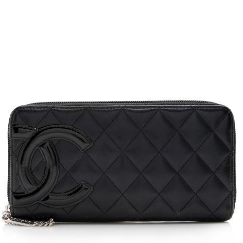 Chanel Quilted Lambskin Ligne Cambon Zip Wallet
