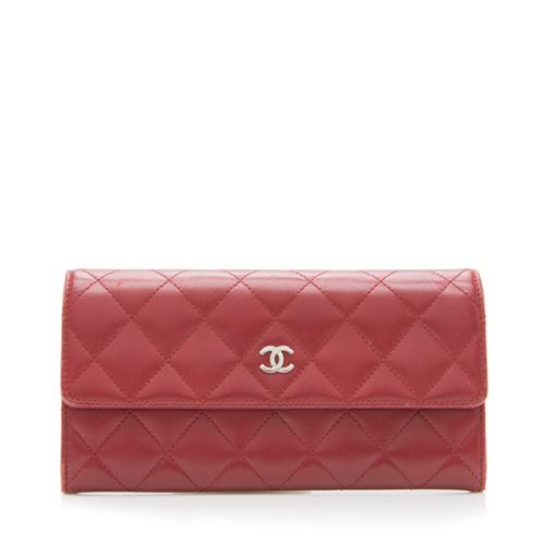 Chanel Quilted Lambskin Long Wallet
