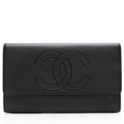 Chanel Vintage Caviar Leather CC Wallet