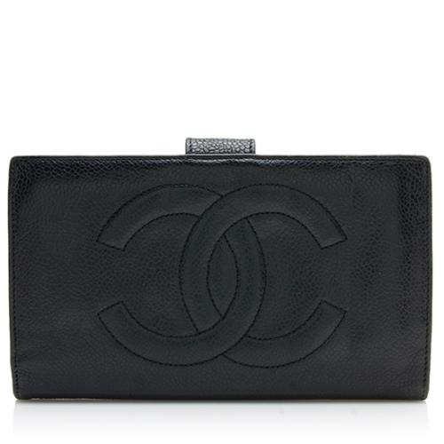 Chanel Vintage Caviar Leather Timeless French Purse Wallet