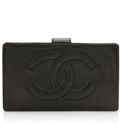 Chanel Vintage Lambskin Timeless French Purse Wallet