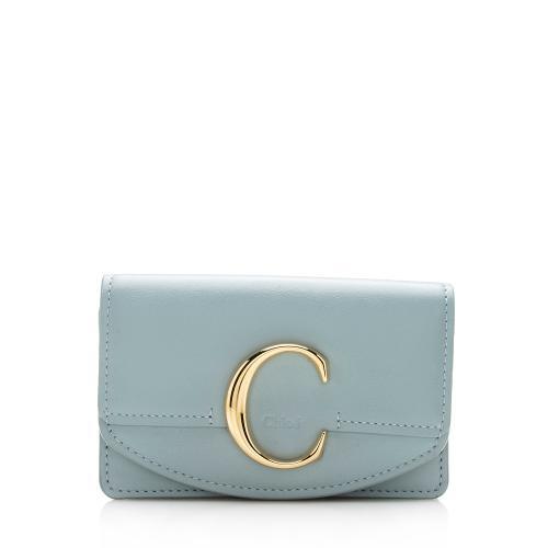 Chloe Leather C Card Holder