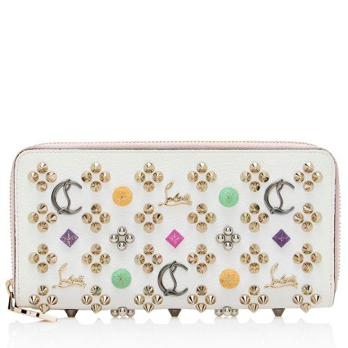Christian Louboutin Leather Panettone Studded Wallet