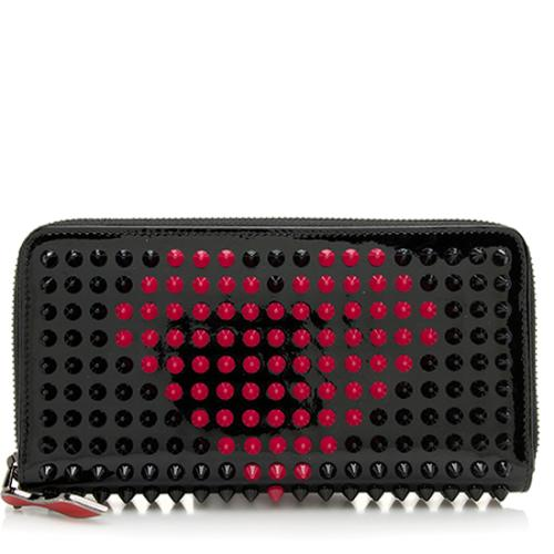 Christian Louboutin Patent Leather Panettone Studded Valentine Wallet