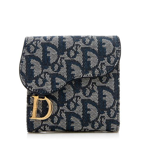 Dior Canvas Logo Saddle Wallet