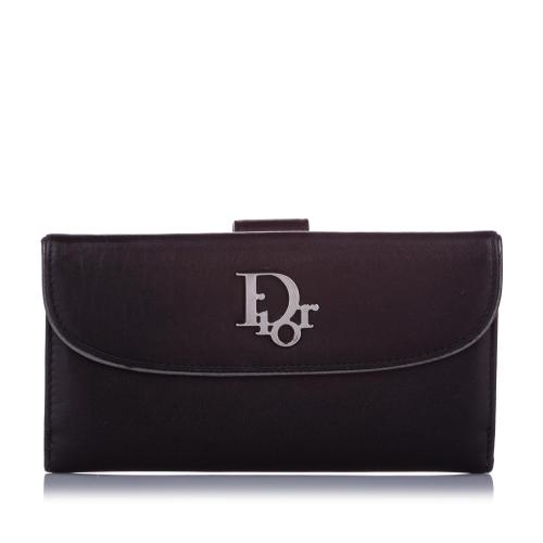 Dior Logo Leather Long Wallet