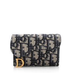 Dior Oblique Saddle Card Holder