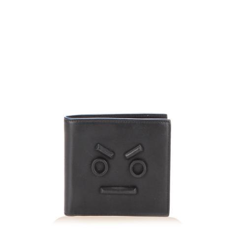 Fendi Leather Faces Bifold Wallet