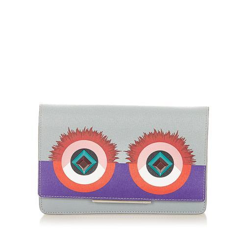 Fendi Hypnoteyes Leather Wallet on Chain