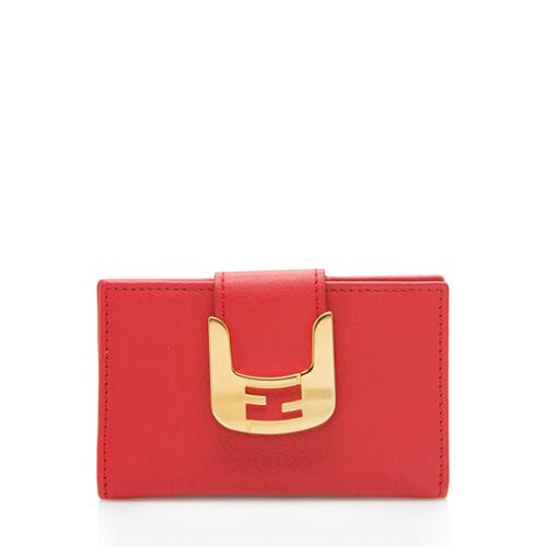 Fendi Leather Card Case Wallet