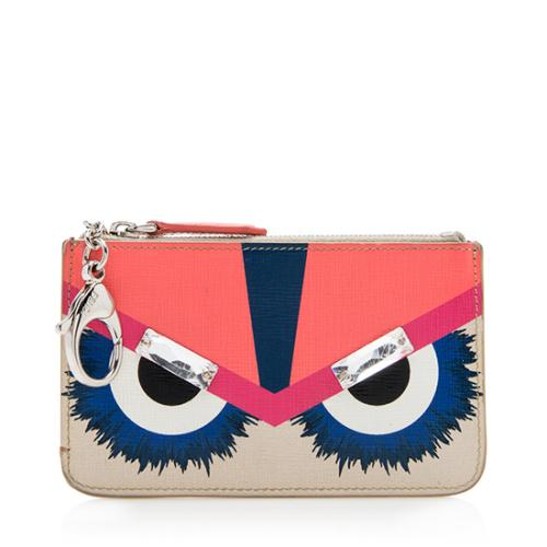 Fendi Leather Monster Eyes Key Pouch