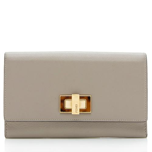 Fendi Leather Peekaboo Wallet