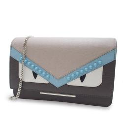 Fendi Saffiano Monster Wallet on Chain