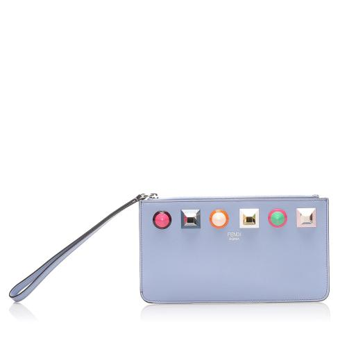 Fendi Leather Stud Rainbow Pochette