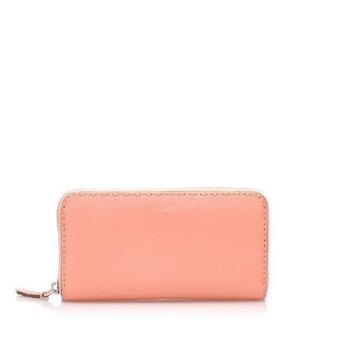 Fendi Selleria Leather Long Wallet