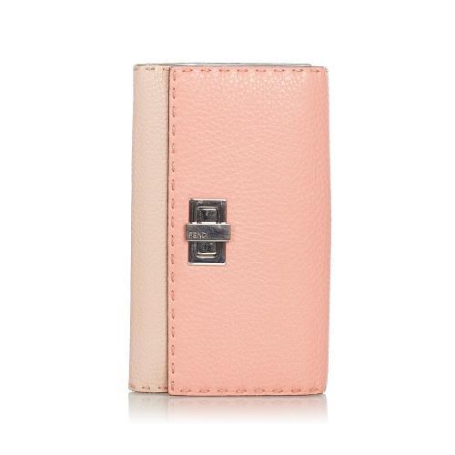 Fendi Selleria Peekaboo Leather Wallet