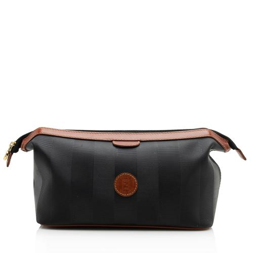 Fendi Vintage Pequin Cosmetic Bag