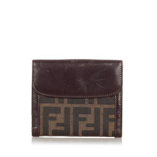Fendi Zucca Canvas Small Wallet