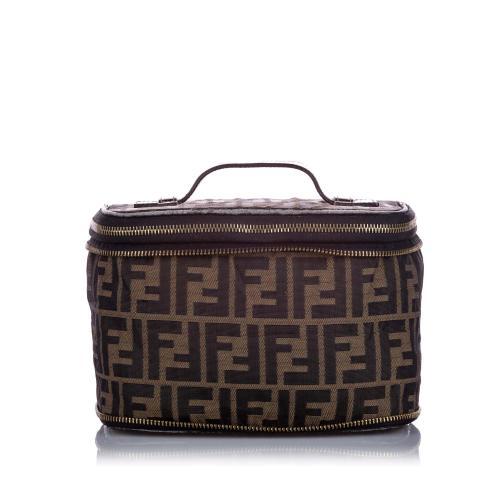 Fendi Zucca Canvas Vanity Bag