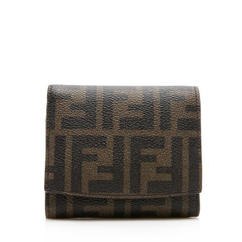 Fendi Zucca Compact Flap Wallet