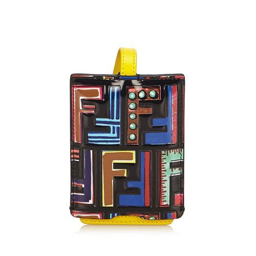 Fendi Zucca Leather Luggage Tag