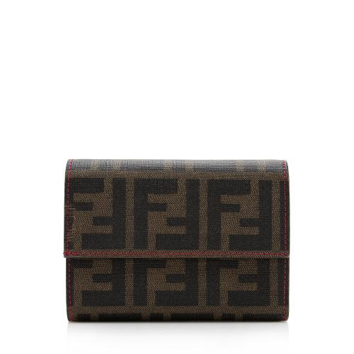 Fendi Zucca Trifold Compact Wallet