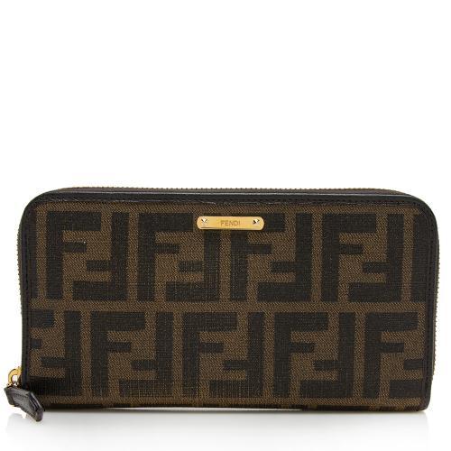 Fendi Zucca Zip Wallet