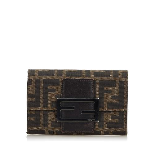Fendi Zucchino Canvas Small Wallet