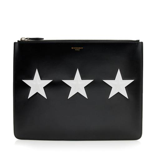 Givenchy Leather Star Clutch Pouch