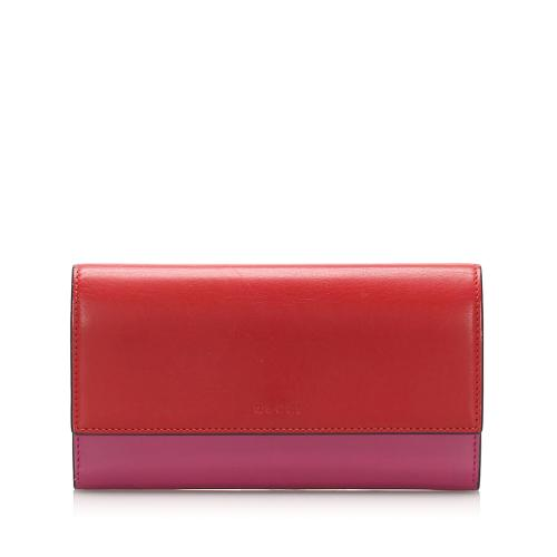 Gucci Bicolor Leather Long Wallet