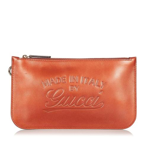 Gucci Craft Leather Pouch