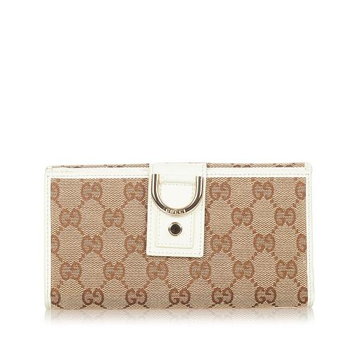 Gucci GG Canvas Abbey D- Ring Long Wallet