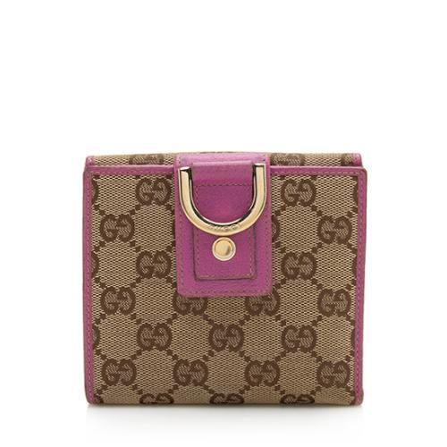 Gucci GG Canvas Abbey French Wallet