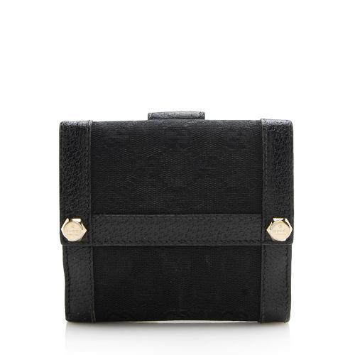 Gucci GG Canvas Charmy French Wallet