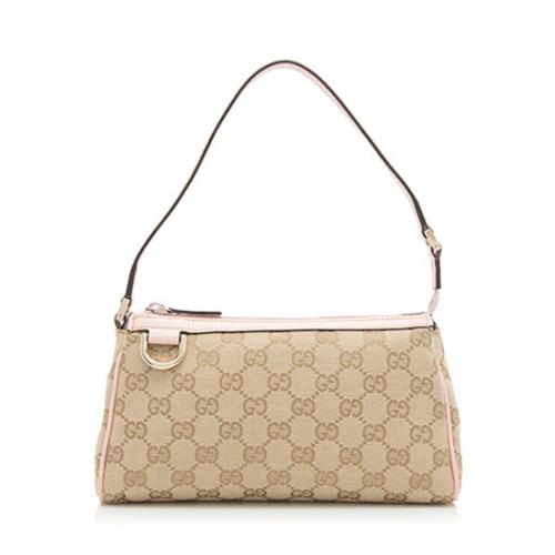 Gucci GG Canvas D Gold Pochette