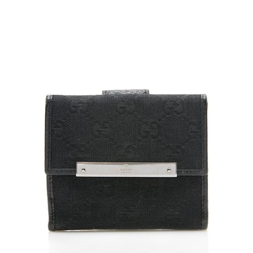 Gucci GG Canvas French Wallet