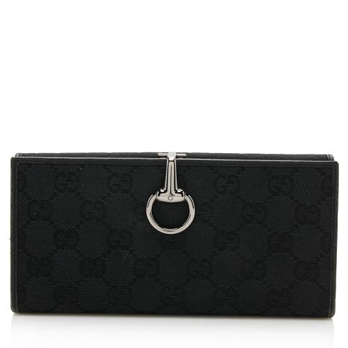 Gucci GG Canvas Horsebit Continental Wallet