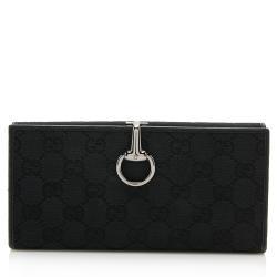 Gucci GG Canvas Horsebit Continental Wallet
