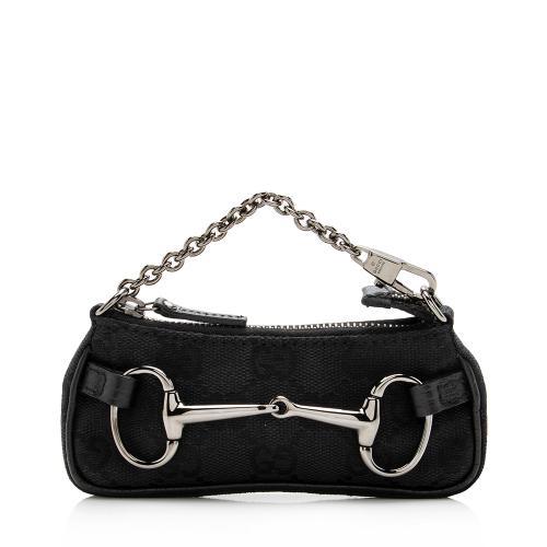 Gucci GG Canvas Horsebit Mini Key Case