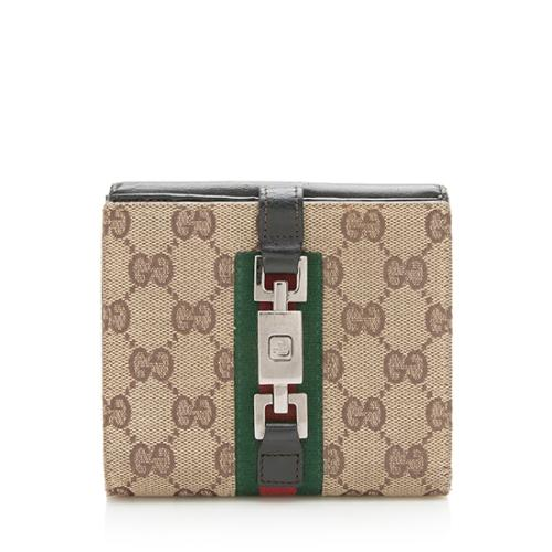 Gucci GG Canvas Jackie French Wallet
