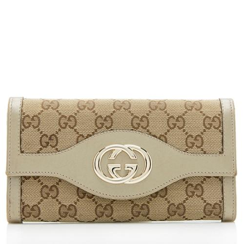 Gucci GG Canvas Leather Sukey Wallet