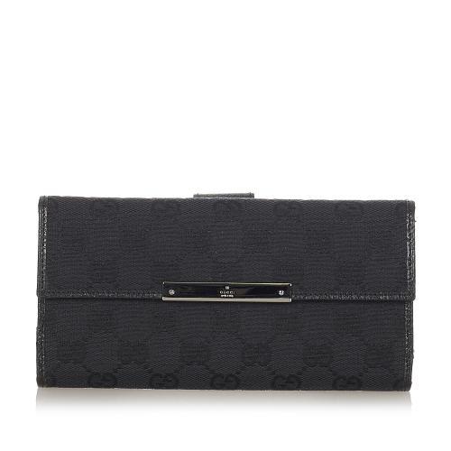Gucci GG Canvas Long Wallet