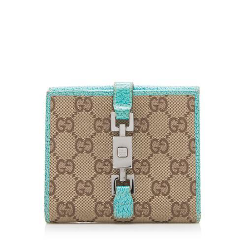 Gucci GG Canvas Nailhead Bardot Wallet
